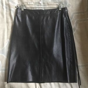 Banana republic 100% leather skirt